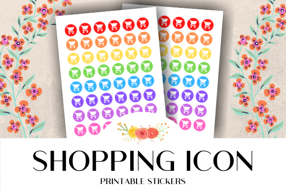 Download Free Shopping Icon Printable Stickers Graphic By Atlasart Creative for Cricut Explore, Silhouette and other cutting machines.