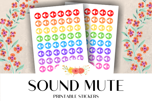 Download Free Sound Mute Icon Printable Stickers Graphic By Atlasart for Cricut Explore, Silhouette and other cutting machines.
