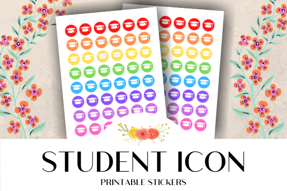 Print on Demand: Student Icon Printable Stickers Graphic Crafts By atlasart
