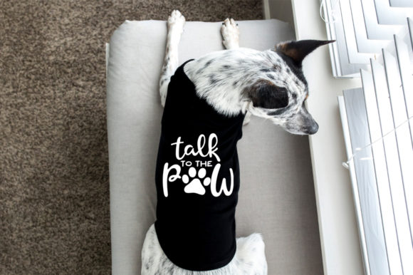 Download Free Talk To The Paw Graphic By Simply Cut Co Creative Fabrica for Cricut Explore, Silhouette and other cutting machines.