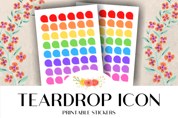 Download Free Teardrop Corner Icon Printable Stickers Graphic By Atlasart for Cricut Explore, Silhouette and other cutting machines.