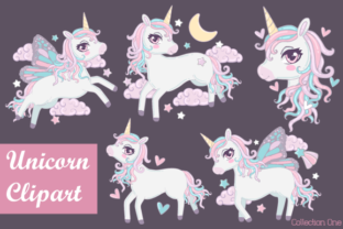 Download Free Unicorn Clipart Collection Graphic By Jm Graphics Creative Fabrica for Cricut Explore, Silhouette and other cutting machines.