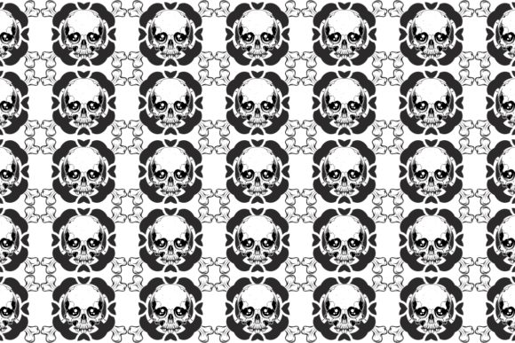 Download Free Vector Pattern With Skulls Graphic By Epic Graphic Creative for Cricut Explore, Silhouette and other cutting machines.
