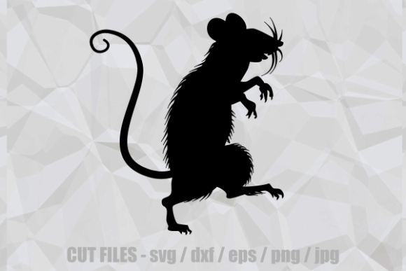 Download Free Vintage Funny Furry Mouse Cut File Retro Graphic By Prawny for Cricut Explore, Silhouette and other cutting machines.