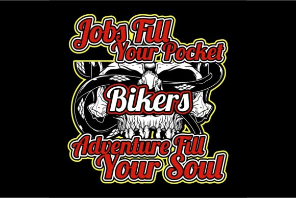 Download Free Bikers Quote With Skull Hand Drawing Graphic By Epic Graphic for Cricut Explore, Silhouette and other cutting machines.