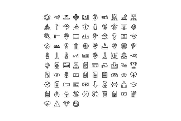 Business Black and White Line Icon Graphic Icons By muhammadfaisal40