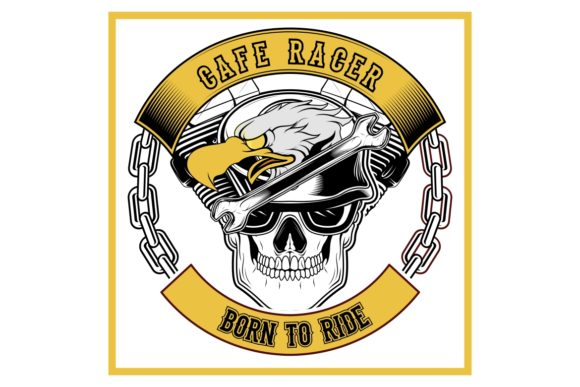 Download Free Cafe Racer Eagle And Skull Bikers Graphic By Epic Graphic for Cricut Explore, Silhouette and other cutting machines.