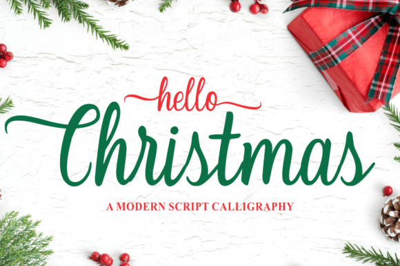 Print on Demand: Christmas Script & Handwritten Font By Girinesia