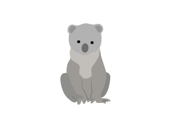 Download Free Cute Koala Animal Graphic By Archshape Creative Fabrica for Cricut Explore, Silhouette and other cutting machines.