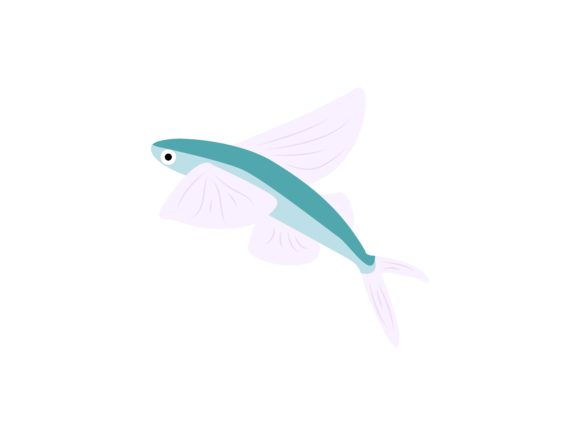 Download Free Flying Fish Animal Graphic By Archshape Creative Fabrica for Cricut Explore, Silhouette and other cutting machines.