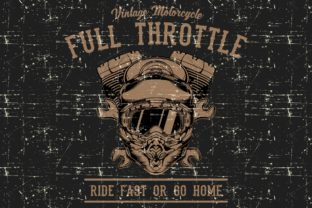 Grunge Style Motor Cycle Helmet Graphic Illustrations By Epic.Graphic