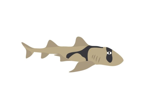Download Free Japanese Bullhead Shark Fish Animal Graphic By Archshape for Cricut Explore, Silhouette and other cutting machines.