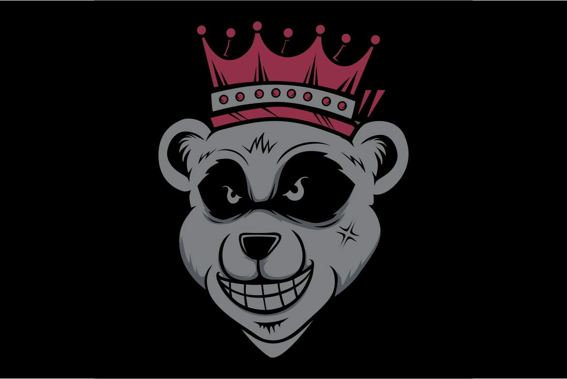 Download Free King Bear Wearing Crownd Head Graphic By Epic Graphic Creative for Cricut Explore, Silhouette and other cutting machines.