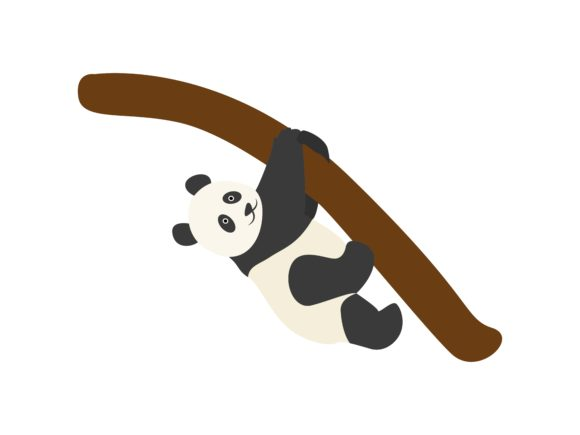 Download Free Panda Climbs Animal Graphic By Archshape Creative Fabrica for Cricut Explore, Silhouette and other cutting machines.