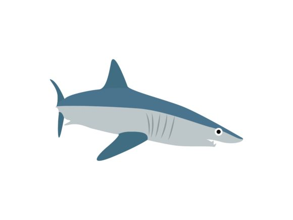 Download Free Shark Blue Fish Animal Graphic By Archshape Creative Fabrica for Cricut Explore, Silhouette and other cutting machines.