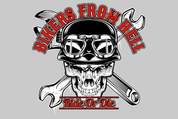 Skull Bikers from Hell Graphic Illustrations By Epic.Graphic