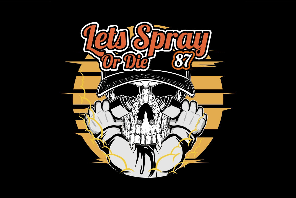 Download Free Skull Spray Paint Vector Hand Drawing Graphic By Epic Graphic for Cricut Explore, Silhouette and other cutting machines.