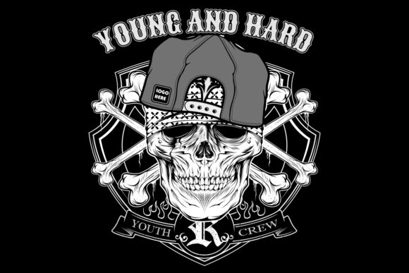 Skull Young Hard Wearing Cap Graphic By Epic Graphic Creative