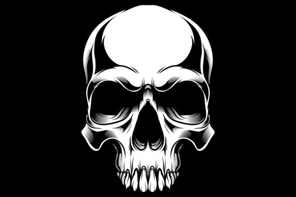 Download Free Skull Vector Hand Drawing Graphic By Epic Graphic Creative Fabrica for Cricut Explore, Silhouette and other cutting machines.