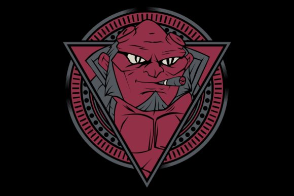 The Red Devils Smoking Vector Hand Draw Graphic Illustrations By Epic.Graphic
