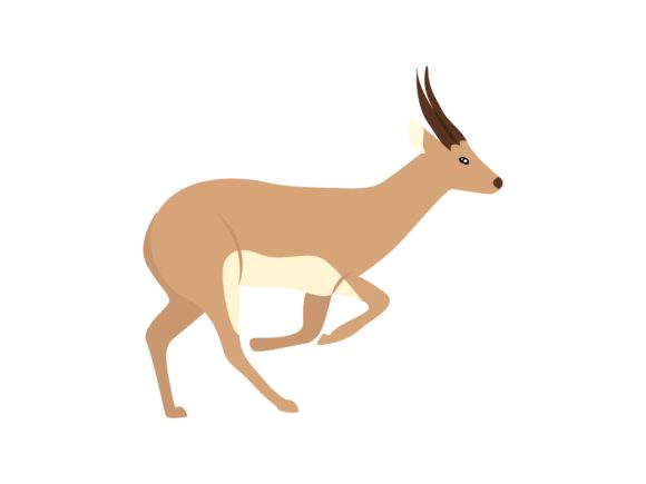 Download Free Walking Antelope Animal Graphic By Archshape Creative Fabrica for Cricut Explore, Silhouette and other cutting machines.