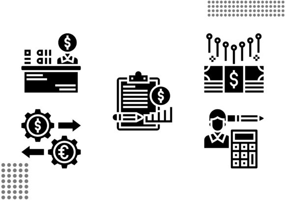 Accounting Fill Graphic Icons By cool.coolpkm3