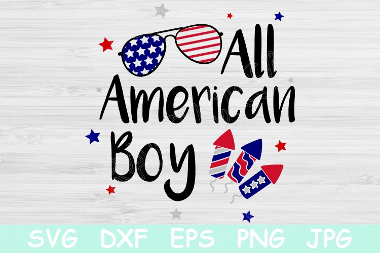 Download Free All American Boy 4th Of July Graphic By Tiffscraftycreations for Cricut Explore, Silhouette and other cutting machines.