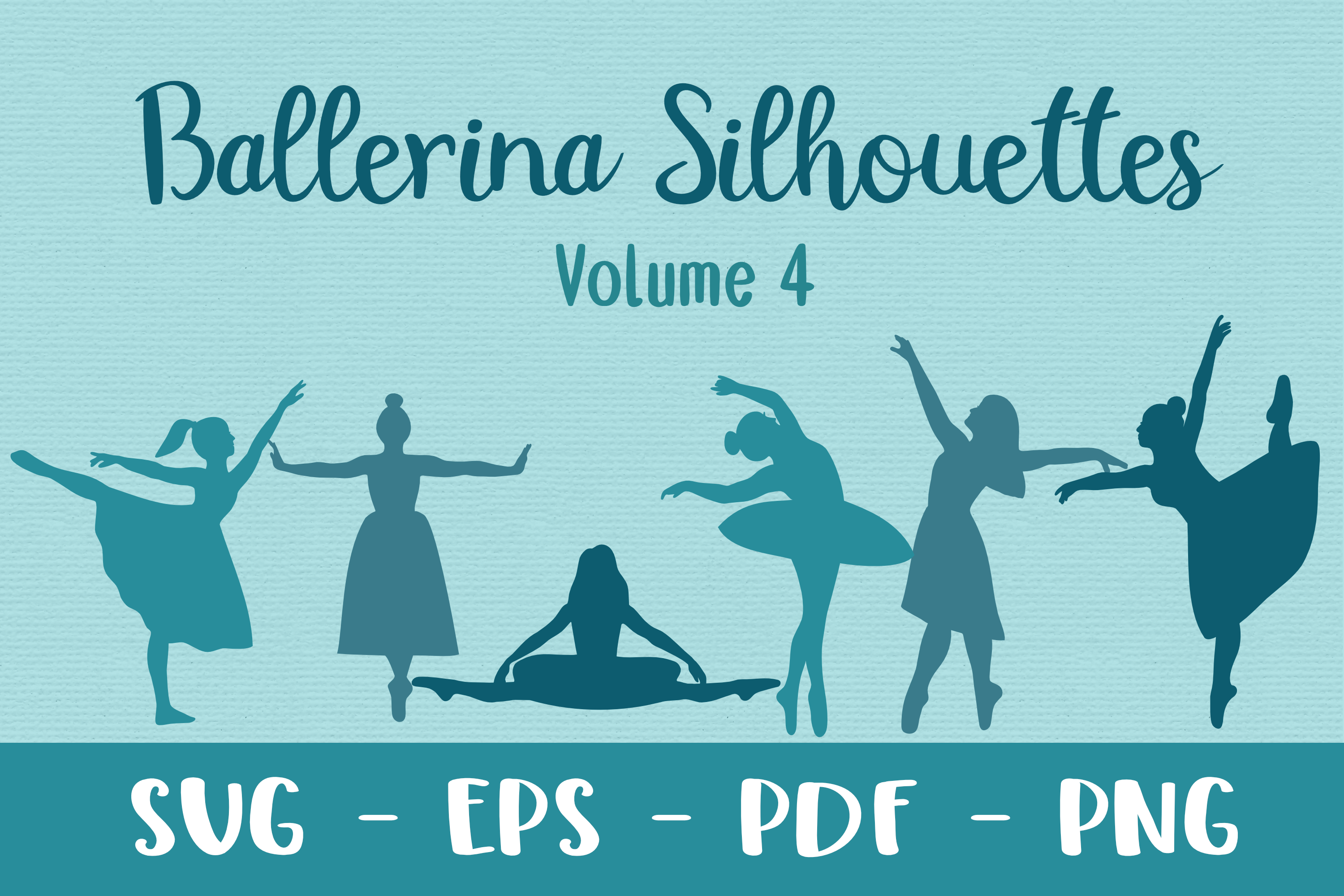 Download Free Ballerina Silhouettes Volume 4 Graphic By Merakireveriestudio for Cricut Explore, Silhouette and other cutting machines.