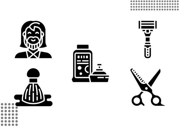 Download Free Barber Shop Fill Graphic By Cool Coolpkm3 Creative Fabrica for Cricut Explore, Silhouette and other cutting machines.