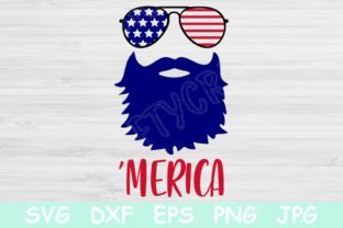 Download Free Beard Merica 4th Of July Graphic By Tiffscraftycreations for Cricut Explore, Silhouette and other cutting machines.