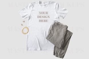 Bella Canvas T-Shirt Flat Lay Trousers Graphic Product Mockups By Masters of Mockups 3