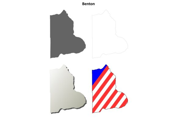 Download Free Benton County Outline Map Set Graphic By Davidzydd Creative for Cricut Explore, Silhouette and other cutting machines.