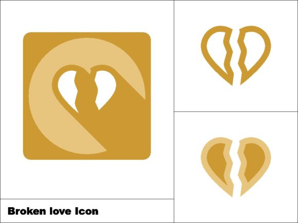 Download Free Broken Love Icon 3 Model Graphic By Novieart 99 Creative Fabrica for Cricut Explore, Silhouette and other cutting machines.