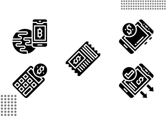 Cashless Society Fill Graphic Icons By cool.coolpkm3