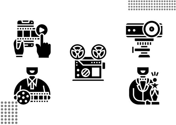 Download Free Cinema Fill Graphic By Cool Coolpkm3 Creative Fabrica for Cricut Explore, Silhouette and other cutting machines.