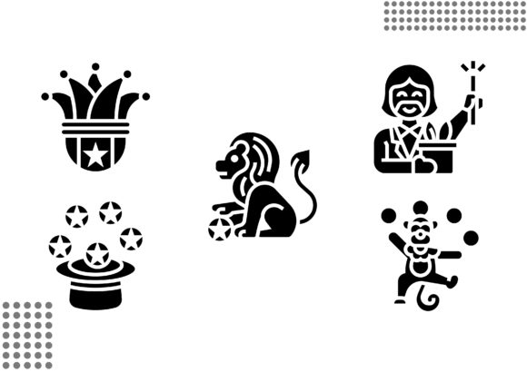 Download Free Circus Element Fill Graphic By Cool Coolpkm3 Creative Fabrica for Cricut Explore, Silhouette and other cutting machines.