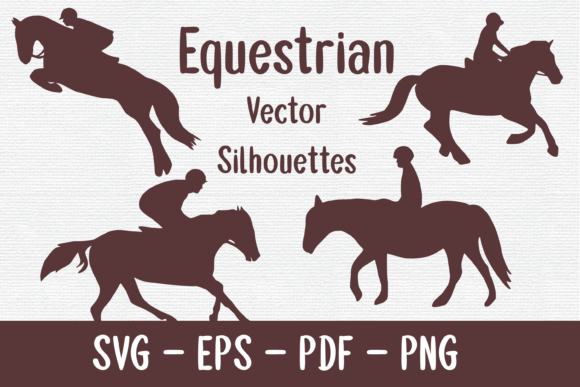Equestrian Silhouettes Graphic Crafts By merakireveriestudio