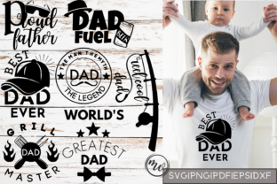 Download Free Father S Day Mini T Shirt Quote Bundle Graphic By Mockup Venue for Cricut Explore, Silhouette and other cutting machines.