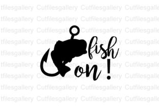 Download Free Fish On Graphic By Cutfilesgallery Creative Fabrica for Cricut Explore, Silhouette and other cutting machines.