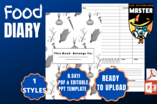 Print on Demand: Food Diary Graphic KDP Interiors By KDP_Interiors_Master