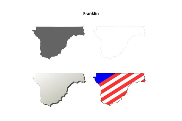Download Free Franklin County Outline Map Set Graphic By Davidzydd Creative Fabrica for Cricut Explore, Silhouette and other cutting machines.