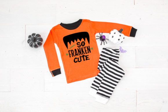 Download Free Halloween T Shirt So Franken Cute Graphic By Simply Cut Co for Cricut Explore, Silhouette and other cutting machines.
