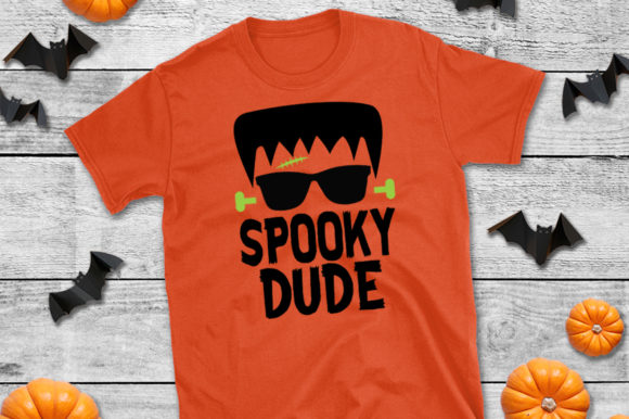 Halloween T Shirt Spooky Dude Graphic By Simply Cut Co Creative Fabrica
