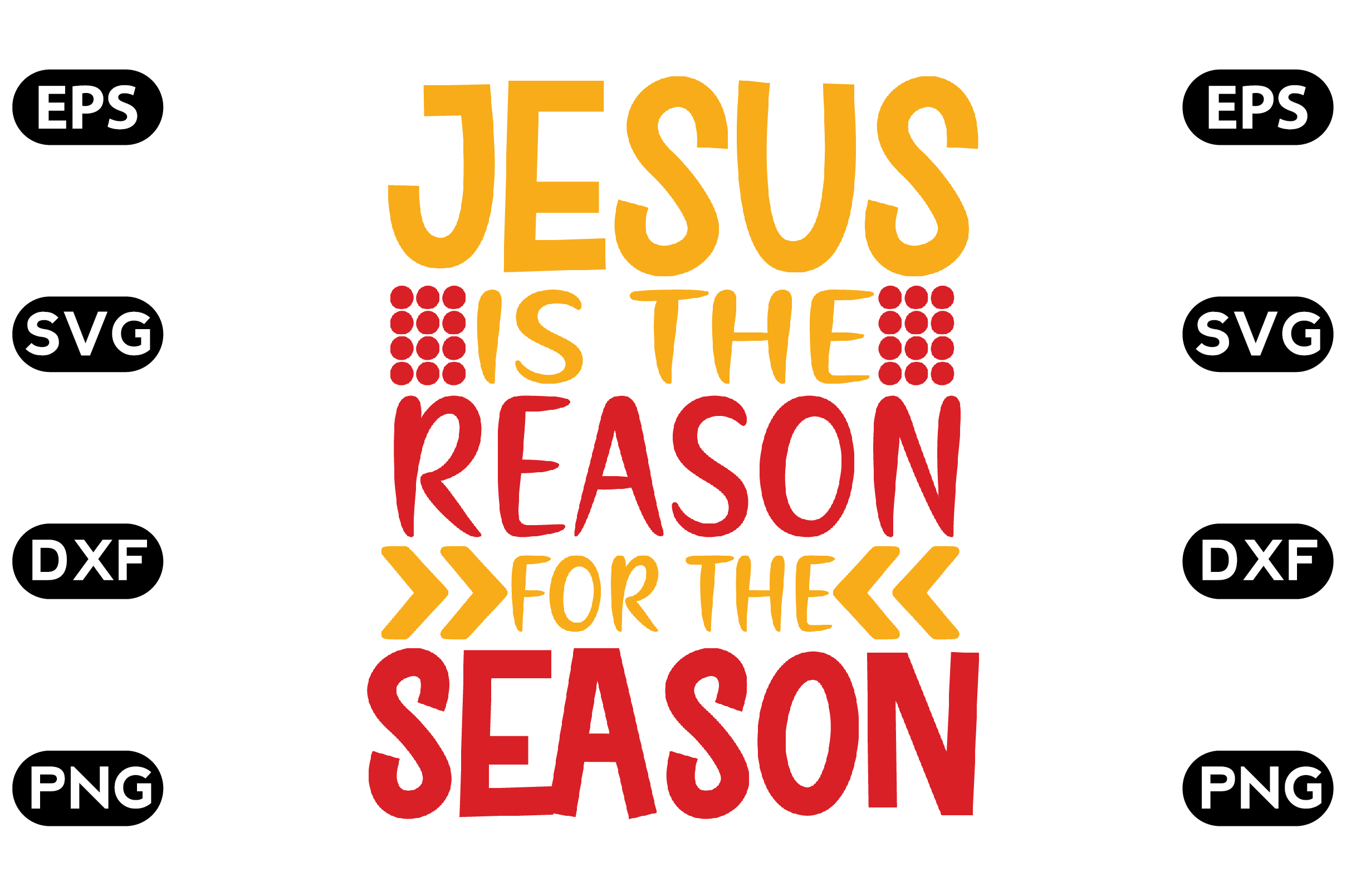 Download Free Jesus Is The Reason For The Season Graphic By Svg Store for Cricut Explore, Silhouette and other cutting machines.