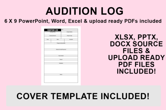 Print on Demand: KDP Interior - Audition Log Graphic KDP Interiors By Bowes Publishing