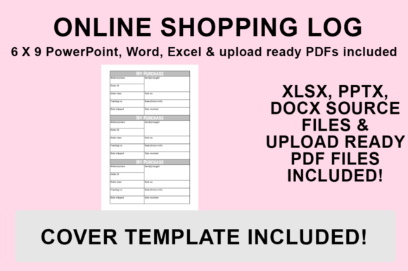 Print on Demand: KDP Interior - Online Shopping Log Graphic KDP Interiors By Luke Bowes