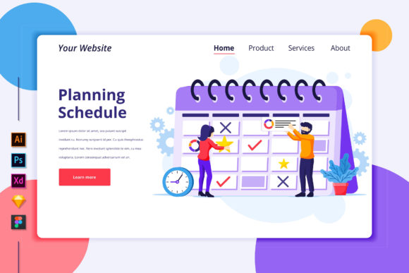 Landing Page of Business Planning Graphic Landing Page Templates By agnyhasya.studios
