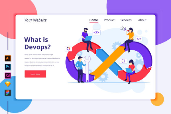 Landing Page of Programmers at Work Graphic Landing Page Templates By agnyhasya.studios