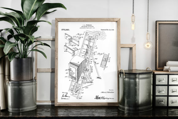 Download Free Life Saving Apparatus 1910 Patent Art Graphic By Antique Pixls for Cricut Explore, Silhouette and other cutting machines.