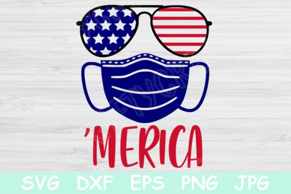 Download Free Mask Merica 4th Of July Graphic By Tiffscraftycreations Creative Fabrica for Cricut Explore, Silhouette and other cutting machines.